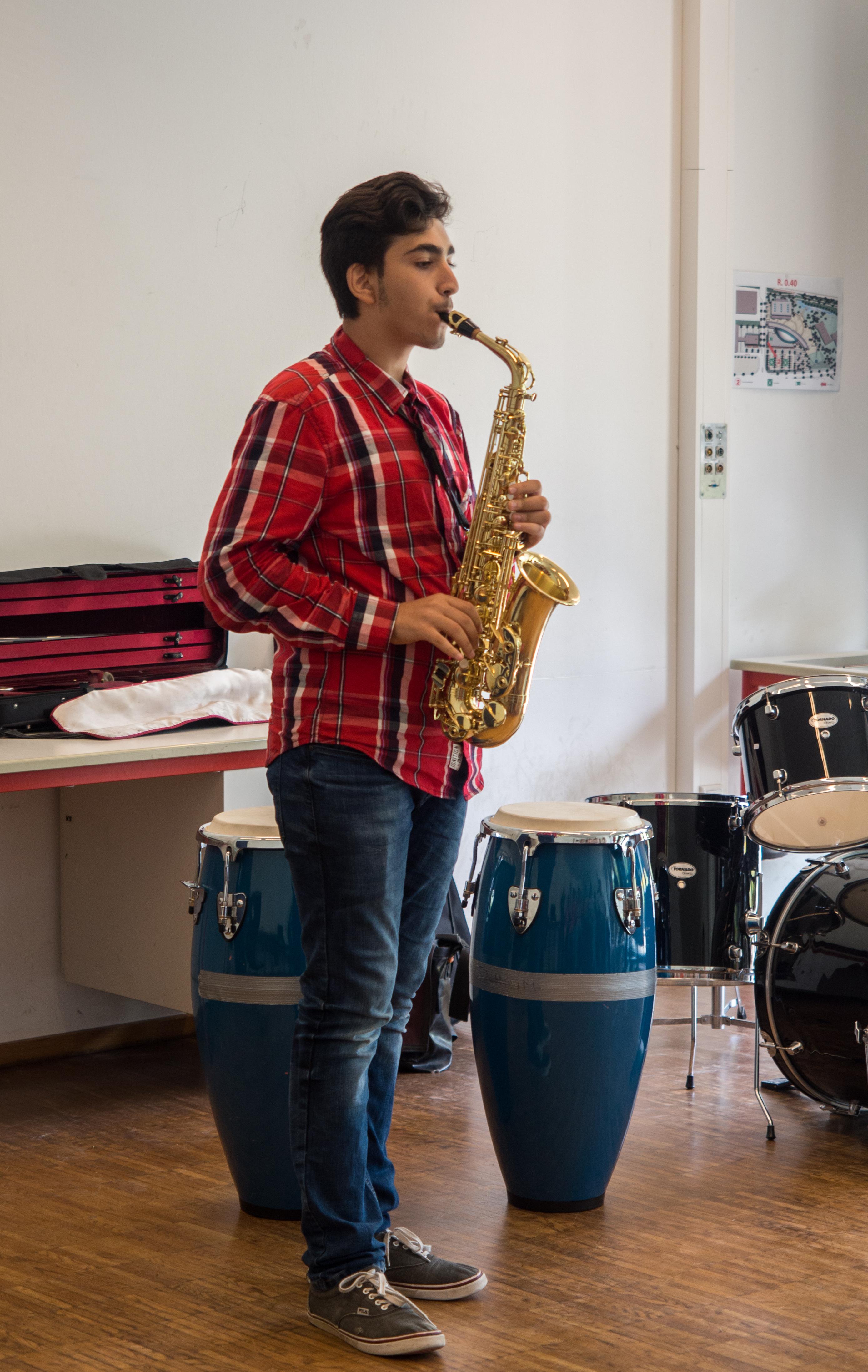 Auch ein Saxophon war mit dabei